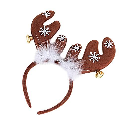 Kingko® Weihnachts-Stirnband, Weihnachts-Haarband, coole Dekorationen für Zuhause, Haarband (Verkauf Halloween-dekoration Disney Für)