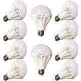 Set of 10 LED Lamps E27- 15Watt, 220 Volt, White