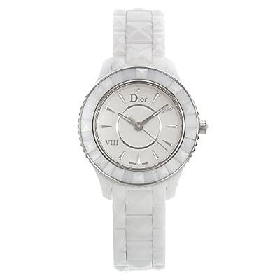 Christian Dior Dior VIII White Ceramic & Stainless Steel Womens Luxury Watch Quartz CD1231E2C001