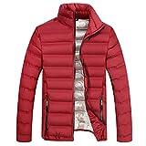 Luckycat Mens Fashion Winter Zipper Reine Farbe Stehkragen Verdickt Baumwolle Outwear Mantel Mode 2018