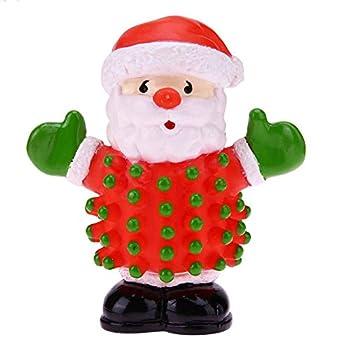 La Cabina Jouet pour Chien Jouet qui Couine pour Chien avec Père Noël Costaud