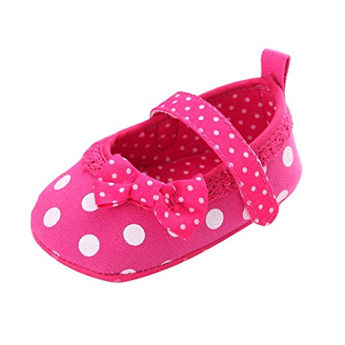 BZLine® Kinder Mädchen weichen Sohle Krippe Kleinkind Neugeborenes Schuhe Hot Pink