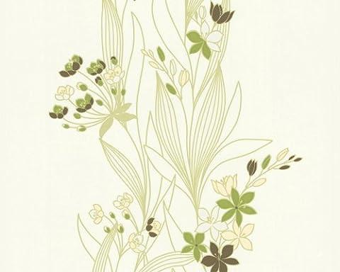 A.S. Création Vliestapete OK Tapete floral 10,05 m x 0,53 m gelb grün weiß Made in Germany 237330 2373-30