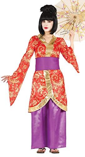 Fancy Me Damen Kostüm Geisha Mädchen Orientalische Japanische rund um die Welt International Junggesellinnenabschied, Gr. - Geisha Mädchen Kostüm Für Erwachsene