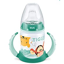 Nuk Disney Winnie First Choice 150 ml Drinking Bottle with Soft Silicone spout, BPA Free, Form 6 Months