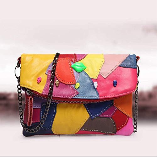 QIAO Das Neue Paket Leder Kette Kleine Tasche Frau Beutel -