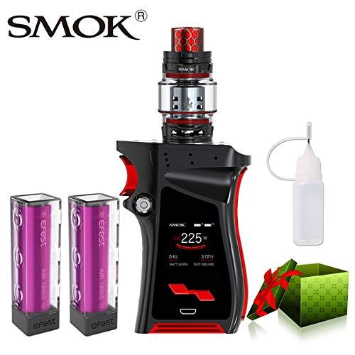 E Zigarette Starter Set Kein Nikotin, SMOK Mag Kit mit TFV12 8ml Prince Tank, 225W E Shisha mit 2 * EFest-Akkus (Schwarz-Rot) (Akku Mag Für)