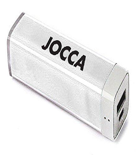Jocca 1167B – Cargador de batería portátil con 4 adaptadores y Cable USB, Color Blanco