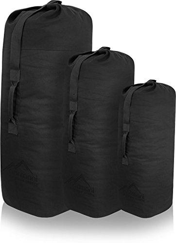 normani US Canvas-Baumwolle Seesack Duffle Bag Classic Sea Farbe Schwarz Größe 125 x 75 cm - Classic Boot Bag