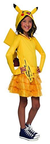 Rubie's Costume Pokemon Pikachu Child Hooded Costume Dress Costume, Medium by Rubie's Costume Co