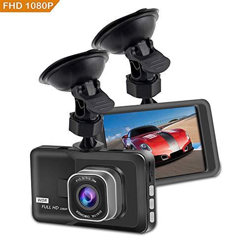 """Dash Cam Telecamera,KOBWA Auto Dash Cam per Auto Camera Car 1080P con 3.0\"""" LCD, G-Sensor, WDR, 6 Glens, Rilevazione di Movimento, Registrazione in Loop,WDR"""