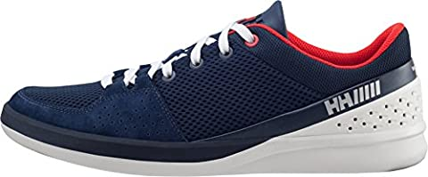 Helly Hansen Mens HH 5.5 M Boating Shoes, Evening Blue/Alert Red, 8 D(M) US