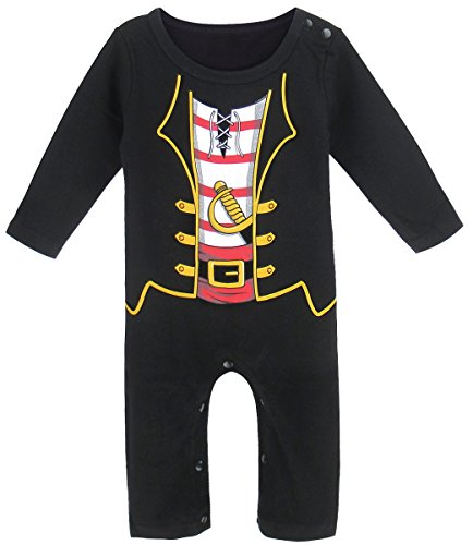 (Mombebe Baby Jungen Piraten Halloween Kostüm Strampler (0-3 Monate, Piraten))