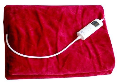 Mesa Living Elektrische Heizdecke extra groß weich und kuschelig 180 cm x 130 cm waschbar (Rot)