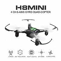 La description: Nom d'article: Eachine H8 Mini RC Quadcopter Fréquence: 2.4G Gyro: 6 axes batterie de produit: 3.7V 150mAh (Inclus) batterie à distance: batterie sèche AAA 3 x (non inclus) Temps de charge: 45min Temps de vol: 5-7mins R / C distance: ...
