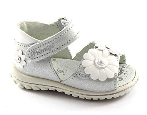 PRIMIGI 55473 RINNY argento grigio scarpe sandali bambina tallone strappi fiore 21