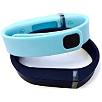 Comparador de precios ! Small S 1pc Light Blue 1pc Navy Replacement Bands + 1pc Free Small Grey Band With Clasp for Fitbit FLEX Only /No tracker/ Wireless Activity Bracelet Sport Wristband Fit Bit Flex Bracelet Sport Arm Band Armband by Pl - precios baratos