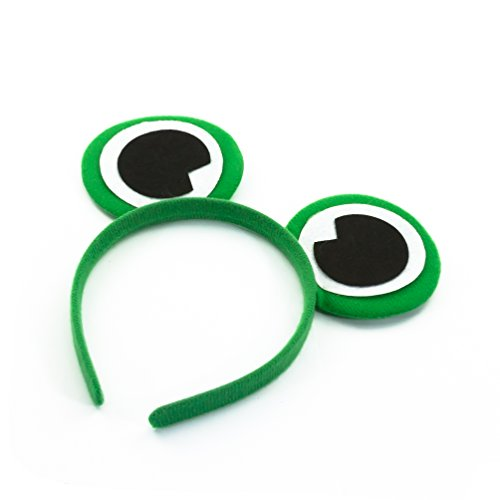 Oblique Unique® Haarreifen mit Froschaugen für das perfekte Frosch Kostüm (Frosch Augen Kostüm)