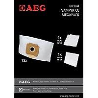 AEG GR 28M  Staubsaugerbeutel, Grösse 28 Megapack (12 Beutel) u.a. für VX3-1, Vampyr CE, CE4120, CE Power, CE PW24TRE
