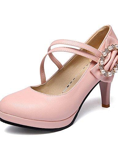 WSS 2016 Chaussures Femme-Bureau & Travail / Décontracté-Noir / Bleu / Rose / Blanc-Talon Cône-Talons / A Plateau / Confort / Bout Arrondi / Bout pink-us6.5-7 / eu37 / uk4.5-5 / cn37