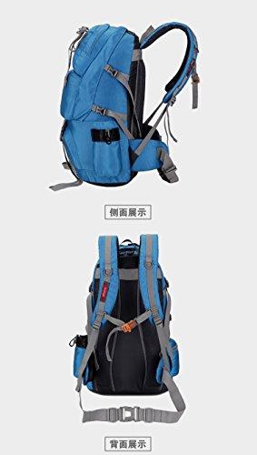 Zaini da escursionismo, Traspirante Spalla Zaino Viaggio Trekking Alpinismo Zaino Unisex Zainetto All'Aperto blue 3
