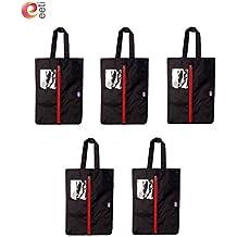 Travel shoe Bags/shoe cover 40,6x 30,5cm (nero) (confezione da) in robusto tessuto impermeabile, antipolvere, scarpe, borsa a secchiello con cerniera resistente. uomini e donne