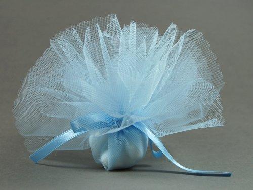 10 Stück Bonboniere uni hellblau
