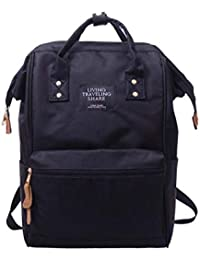 52be8fedb6 Javpoo Nylon Backpack Unisex Casual Rucksack School College Bags Satchel  Bookbag Large Capacity Outdoor Camping Hiking Travel Zipper…