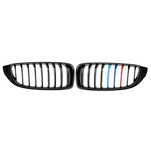 Viviance Auto Paar Gloss Black Front Grilles M Farbe Strip Für BMW 4Er F32 F33 F36 F82