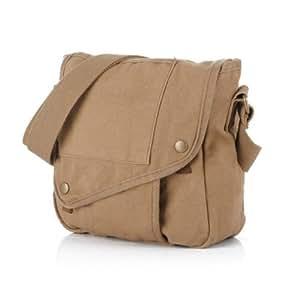 Sacoche en toile de sport voyage pour homme / femme - 4 sacs extérieur + 1 sac intérieure zippée + 1 poche téléphone + 1 sac de certificat - Kaki