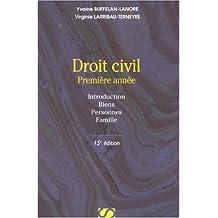 Droit civil : Première année