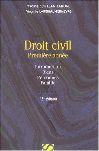 Droit civil : Première année par Yvaine Buffelan-Lanore, Virginie Larribau-Terneyre
