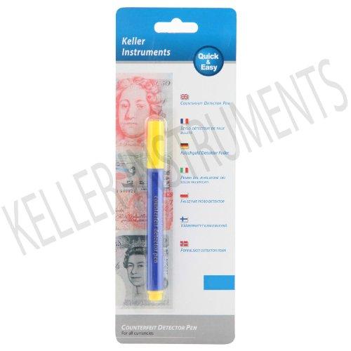 1 x geschmiedet Notiz Detektor Stift - Falschgeld Prüfgerät Stift