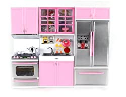 Modern Kitchen Battery Operated Toy Kitchen Playset, Perfect for Use with 11.5