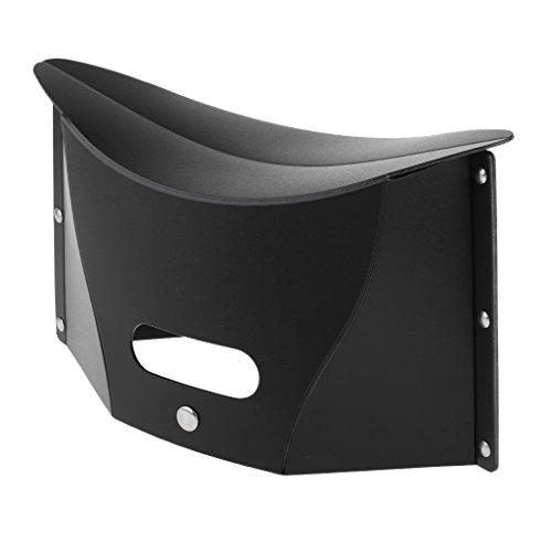 IPOTCH Klappbarer Klapphocker - Sitzhocker - Klappstuhl für Camping - Schwarz