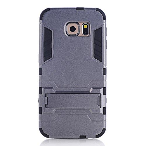 wkae & reg; Huawei P8Case, 2in 1New Man Eisen Stil Hybrid Dual Layer Rüstung Defender PC Hard Cases mit Standfunktion [stoßfest Case] für Huawei Ascend P85.2Zoll von diebell Gray