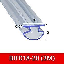 Joint souple en caoutchouc pour portes de douche pliantes à deux battants et canaux de douche BIF018