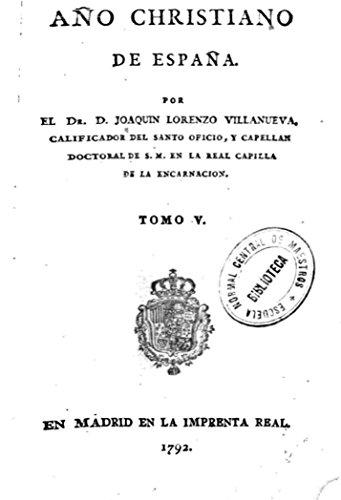 Año christiano de España - Tomo V por Joaquín Lorenzo Villanueva