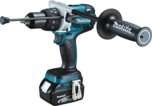Makita DHP481RTJ 18 V Li-Ion LXT Brushless Combi Drill complete with 2 x 5.0 Ah Li-Ion Batteries And...