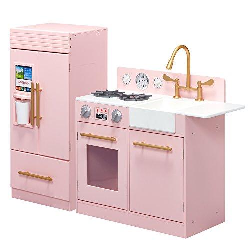Teamson Kids TD-12302P Holzspielzeug Küchenset, Rosa -