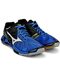 Mizuno Wave Tornado X Unisex Tennis Shoe (Directoire Blue / White / Black)