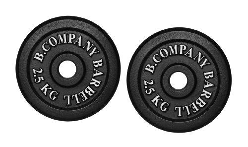 Bad Company I Hantelscheiben aus Gusseisen I Hantel Gewichte I 5,0 Kg (2 x 2,5 Kg), 30/31 mm