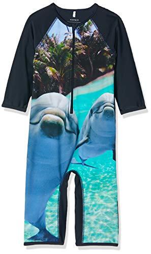 Name IT NOS Nmmzalta UV Swimsuit bañadores, Azul Dark Sapphire, 92 para Niños