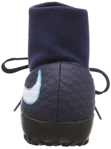 Nike Herren Hypervenomx Phelon 3 DF TF Fußballschuhe Blau (Obsidian/Weiß-Gamma-Gletscher Blau 414)