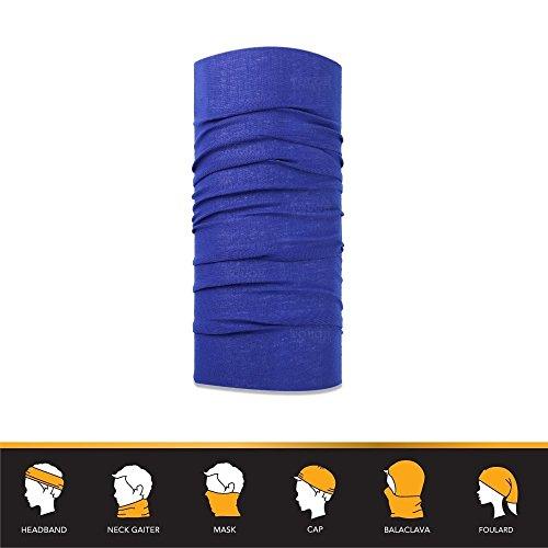 Multifunktionstuch Blau | Winter Bandana | Schlauchtuch / Halstuch | Sturmmaske | Maske Für Motorrad Fahrrad Ski Paintball | Einfarbig Für Damen & Herren