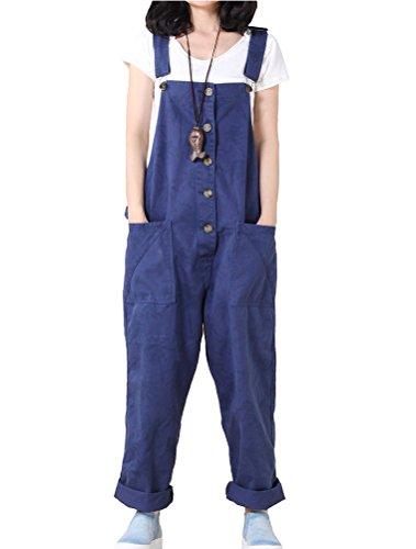 Vogstyle Vogstyle Damen Casual Printing Denim Jumpsuit Pantalons Art 1-Blau