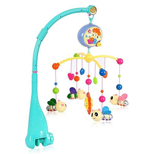Windyeu Giostrina Elettrica Musicale di Neonato per Lettino con Rotazione 360° Gioco di Culla per Sonno del Bambino