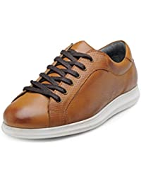 Hats Off Accessories Men Tan Leather Sneakers Shoes