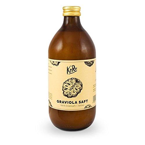 KoRo ● Graviola Saft ● 500 ml ● 100% Direktsaft Aus Graviola ● Stachelannone ● Superfood Zum Trinken