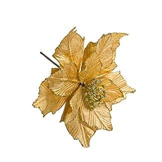PokYr25eb Flor artificial de Pascua para decoración del hogar, boda, fiesta, juego de fiesta de Navidad verde